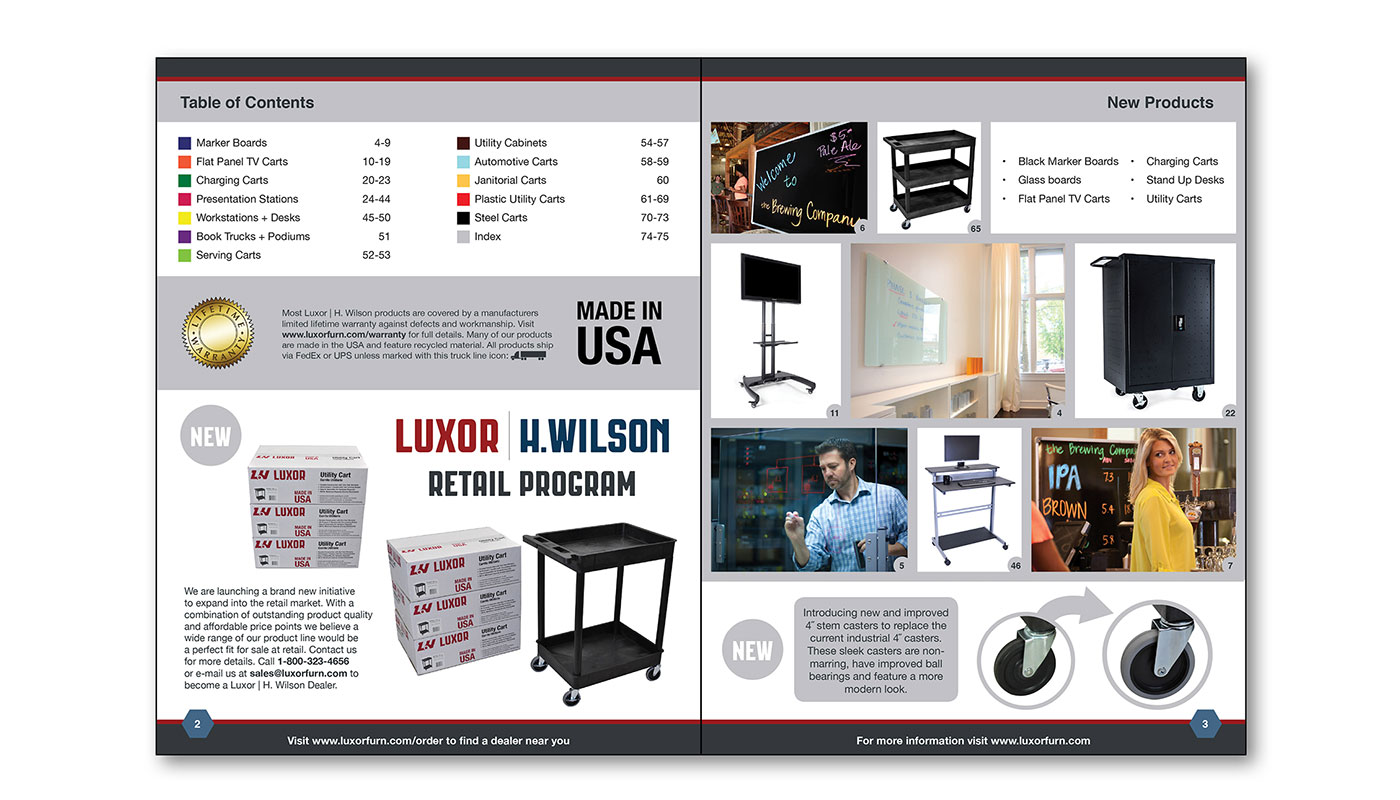 Luxor Catalog Page Layout A