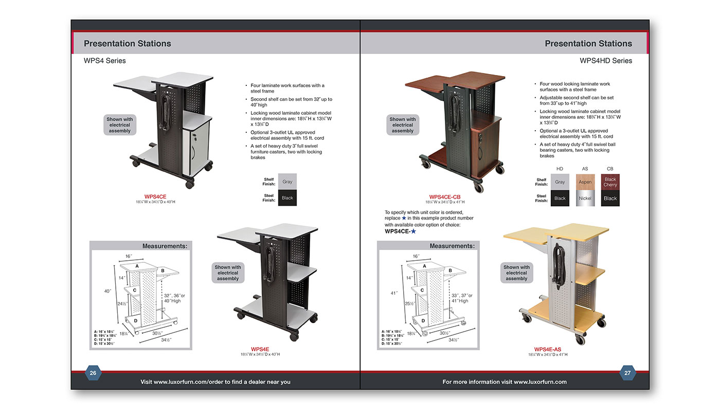 Luxor Catalog Page Layout B